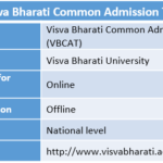 Visva Bharati Common Admission Test
