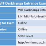WIT Darbhanga Entrance Exam