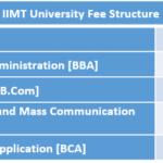 IIMT University Fee Structure