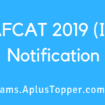 AFCAT 2019 (II) Notification