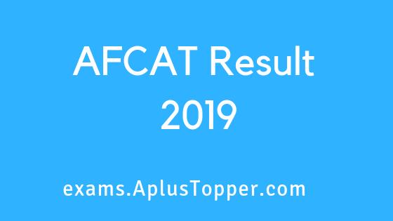 AFCAT Result 2019