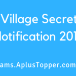 AP Village Secretary Notification 2019
