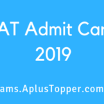CAT Admit Card 2019