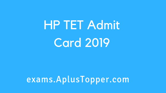 HP TET Admit Card2019