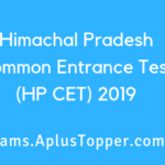 Himachal Pradesh Common Entrance Test