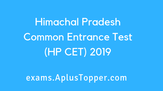 Himachal Pradesh Common Entrance Test