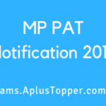 MP PAT Notification 2019