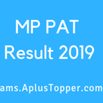 MP PAT Result 2019