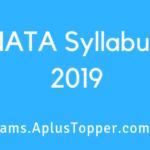 NATA Syllabus 2019