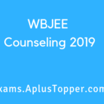 WBJEE Counseling 2019