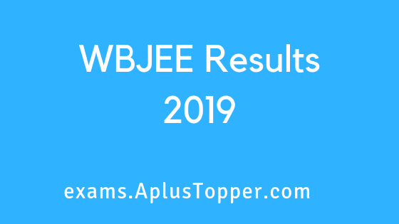 WBJEE Results 2019