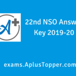 NSO Answer Key 2019-20