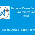 National Career Service (NCS)
