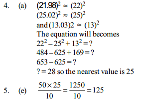 Approximation Questions for IBPS PO 10