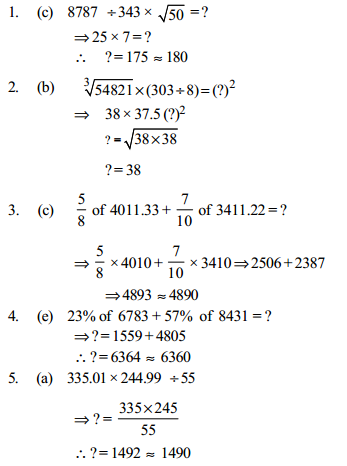 Approximation Questions for IBPS PO 12