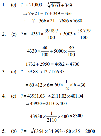 Approximation Questions for IBPS PO 15