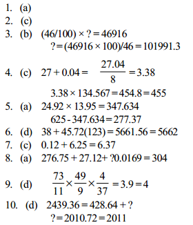 Approximation Questions for IBPS PO 3