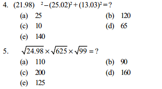 Approximation Questions for IBPS PO 5