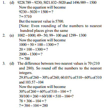 Approximation Questions for IBPS PO 6