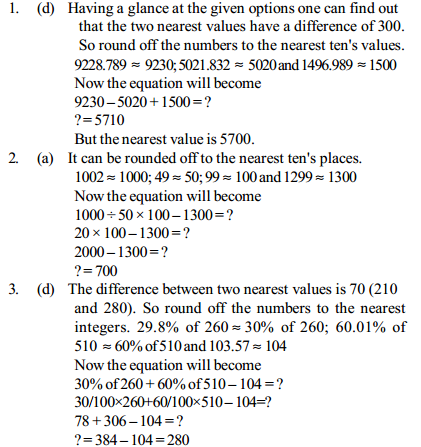 Approximation Questions for IBPS PO 9