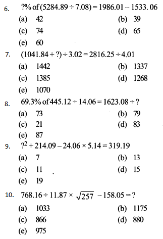 Approximation Questions for IBPS RRB 4