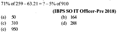 Approximation Questions for IBPS SO 3