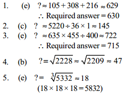 Approximation Questions for SBI Clerk 14