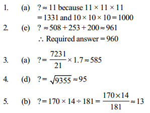 Approximation Questions for SBI Clerk 17