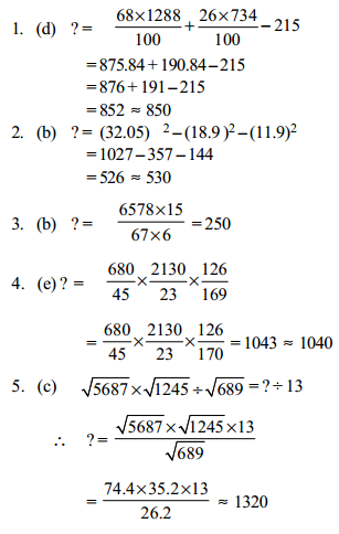 Approximation Questions for SBI Clerk 5