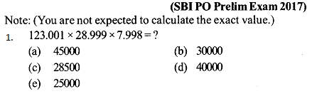 Approximation Questions for SBI PO 10