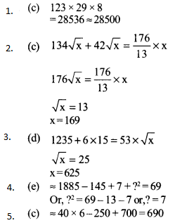 Approximation Questions for SBI PO 12