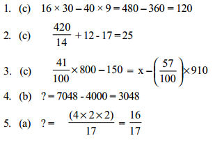 Approximation Questions for SBI PO 2