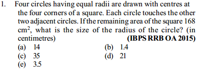 Area and Perimeter Questions for IBPS RRB 5