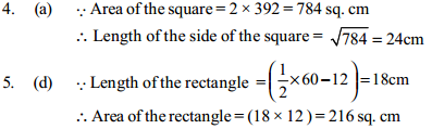 Area and Perimeter Questions for SBI Clerk 11