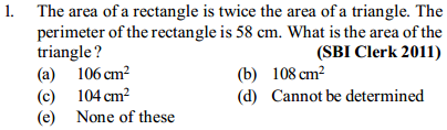 Area and Perimeter Questions for SBI Clerk 18