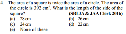Area and Perimeter Questions for SBI Clerk 9