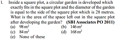 Area and Perimeter Questions for SBI PO 7