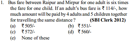 Equations and Inequations Questions for SBI Clerk 5
