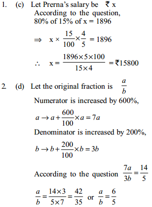 Percentage Questions for IBPS RRB 32