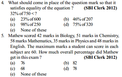 Percentage Questions for SBI Clerk 11