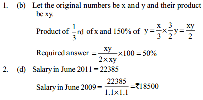 Percentage Questions for SBI PO 23