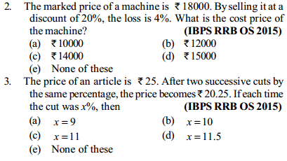 Profit and Loss Questions for IBPS RRB 11