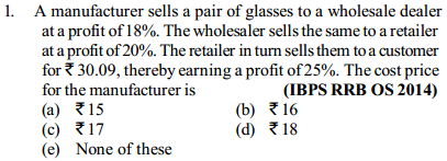 Profit and Loss Questions for IBPS RRB 9