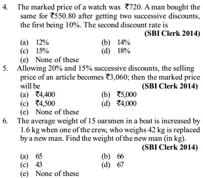 Profit and Loss Questions for SBI Clerks 5