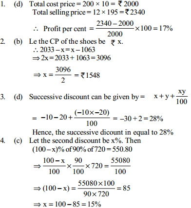 Profit and Loss Questions for SBI Clerks 6