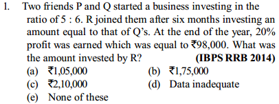 Ratio and Proportion Questions for IBPS RRB 6