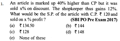 Ratio and Proportion Questions for SBI PO 1
