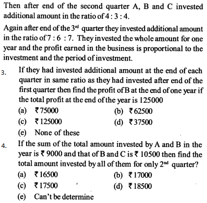 Ratio and Proportion Questions for SBI PO 17