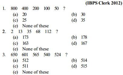 Series Questions for IBPS Clerk 17