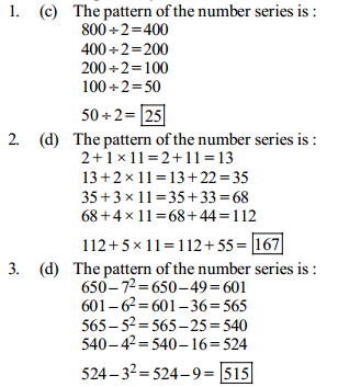 Series Questions for IBPS Clerk 18